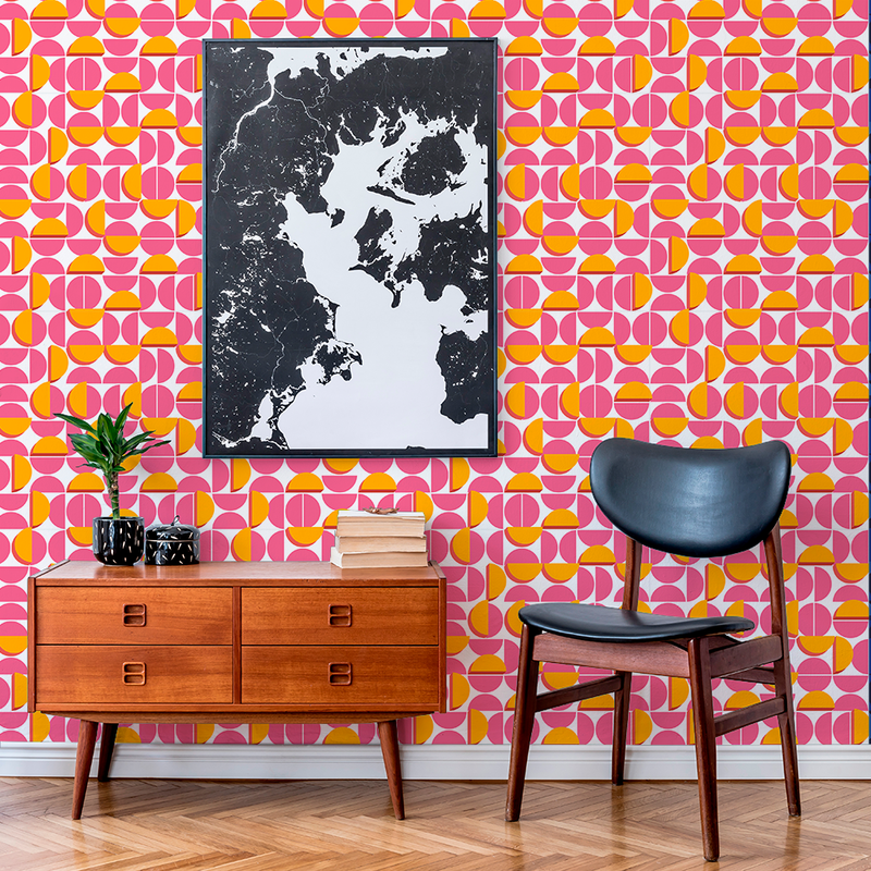 Half Moon - Waxing - Trendy Custom Wallpaper | Contemporary Wallpaper Designs | The Detroit Wallpaper Co.