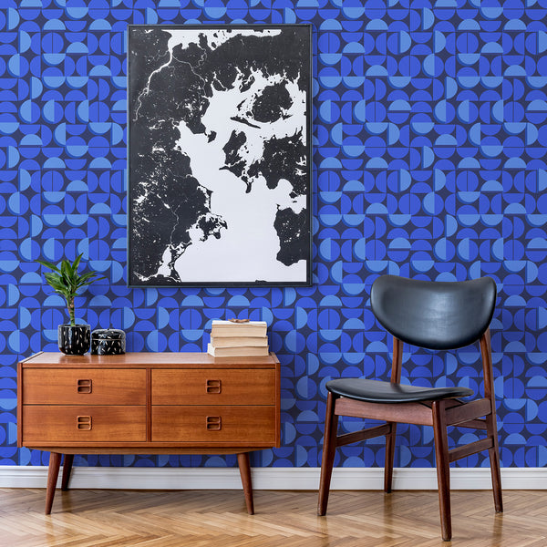 Half Moon - Blue Moon - Trendy Custom Wallpaper | Contemporary Wallpaper Designs | The Detroit Wallpaper Co.