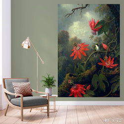 Hummingbird and Passion Flowers Colossal Art Print