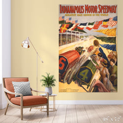 Indianapolis Motor Speedway Colossal Art Print - Trendy Custom Wallpaper | Contemporary Wallpaper Designs | The Detroit Wallpaper Co.