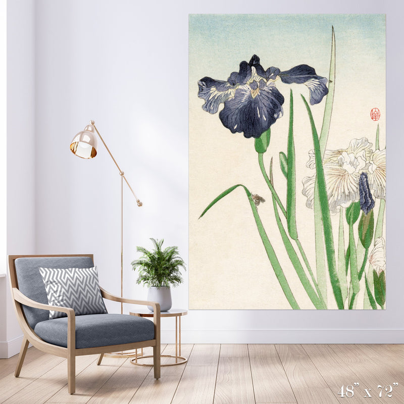 Iris Colossal Art Print - Trendy Custom Wallpaper | Contemporary Wallpaper Designs | The Detroit Wallpaper Co.