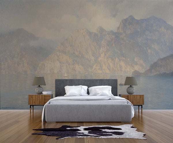 Italian Cliffs Mural - Trendy Custom Wallpaper | Contemporary Wallpaper Designs | The Detroit Wallpaper Co.