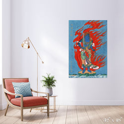 Phoenix Colossal Art Print - Trendy Custom Wallpaper | Contemporary Wallpaper Designs | The Detroit Wallpaper Co.