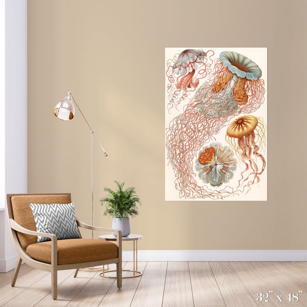 Jellyfish Colossal Art Print - Trendy Custom Wallpaper | Contemporary Wallpaper Designs | The Detroit Wallpaper Co.