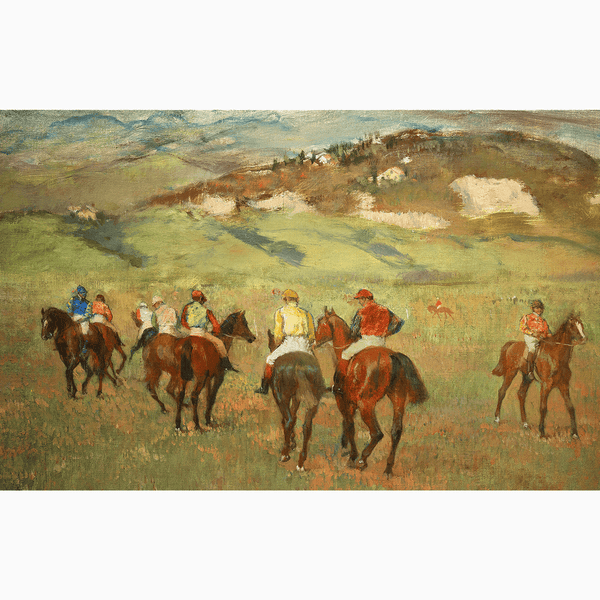 Jockeys on Horseback before Distant Hills, 1884 - Trendy Custom Wallpaper | Contemporary Wallpaper Designs | The Detroit Wallpaper Co.