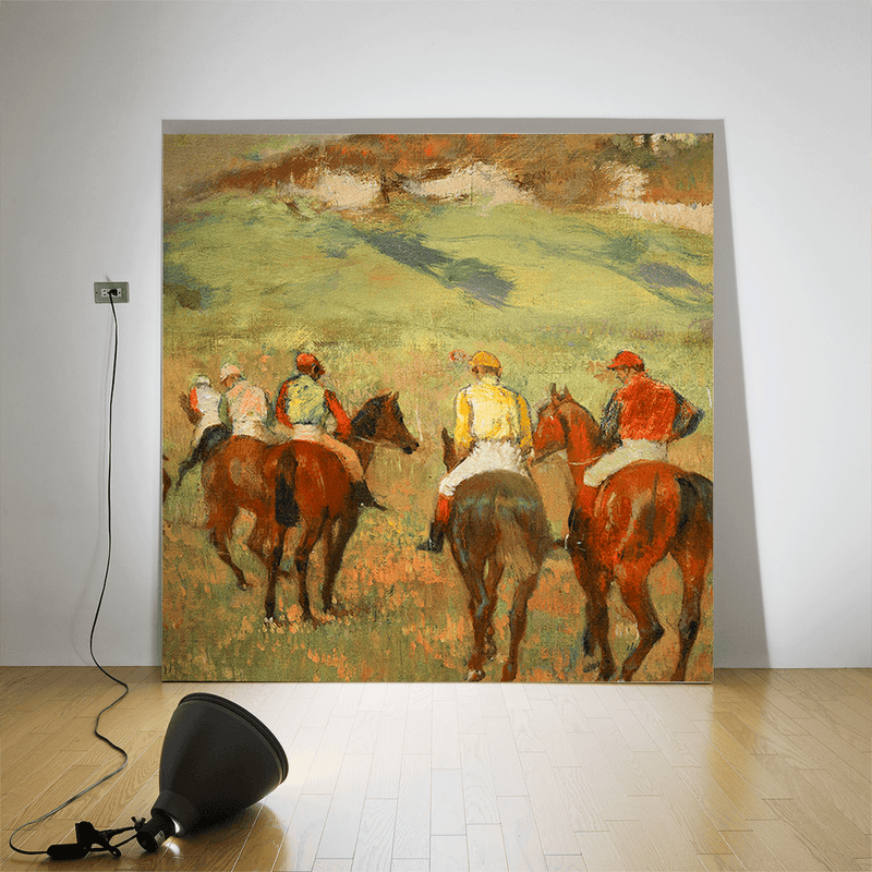 Jockeys on Horseback before Distant Hills, 1884 <br> Detroit Institute of Arts - Trendy Custom Wallpaper | Contemporary Wallpaper Designs | The Detroit Wallpaper Co.