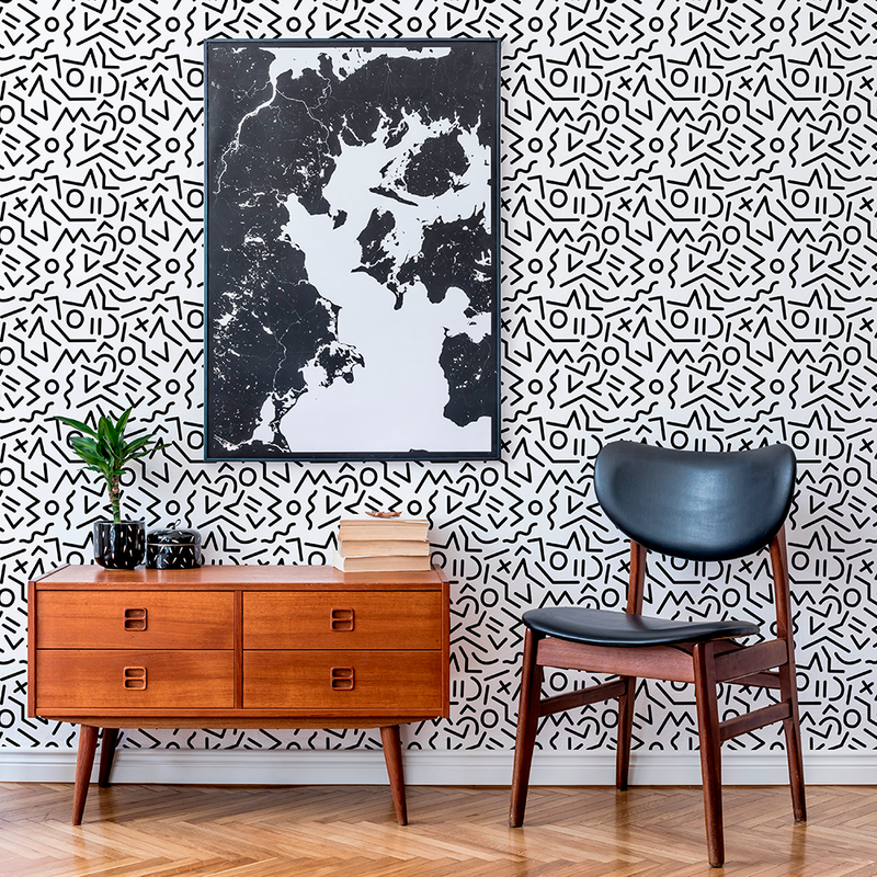 Jump - Optic - Trendy Custom Wallpaper | Contemporary Wallpaper Designs | The Detroit Wallpaper Co.