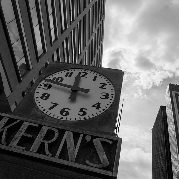 Kern's Clock <br> Amy Sacka Photography - The Detroit Wallpaper Co.
