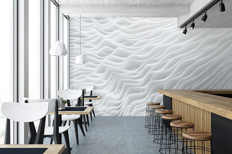 Lamellae Mural <br> Great Wall - Trendy Custom Wallpaper | Contemporary Wallpaper Designs | The Detroit Wallpaper Co.