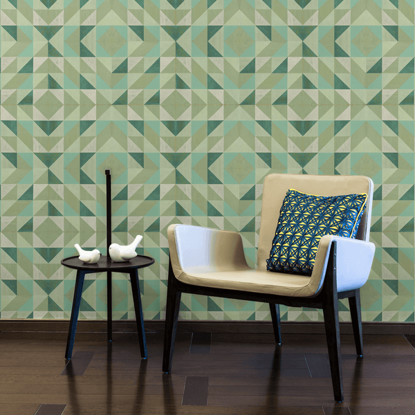 Lively Mint - Trendy Custom Wallpaper | Contemporary Wallpaper Designs | The Detroit Wallpaper Co.