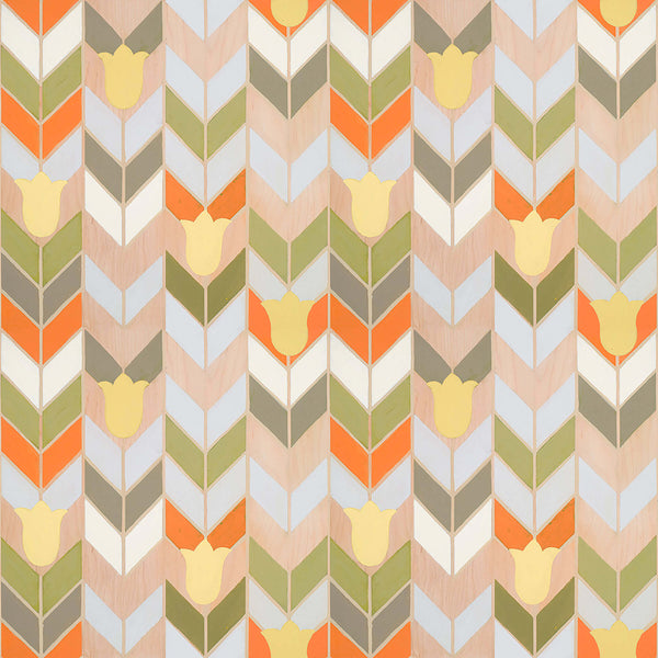 Mirthful Chevron - Trendy Custom Wallpaper | Contemporary Wallpaper Designs | The Detroit Wallpaper Co.