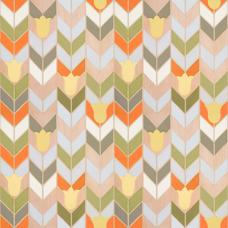 Mirthful Chevron <br> Mirth Studios - The Detroit Wallpaper Co.