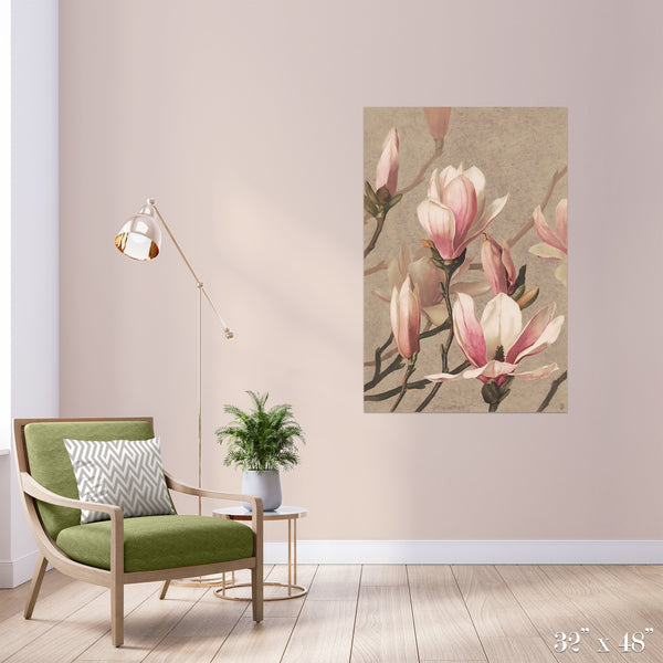 Magnolia Colossal Art Print - Trendy Custom Wallpaper | Contemporary Wallpaper Designs | The Detroit Wallpaper Co.
