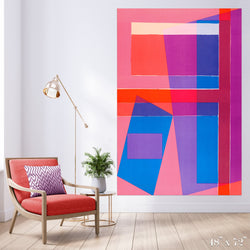 Merge Colossal Art Print - Trendy Custom Wallpaper | Contemporary Wallpaper Designs | The Detroit Wallpaper Co.