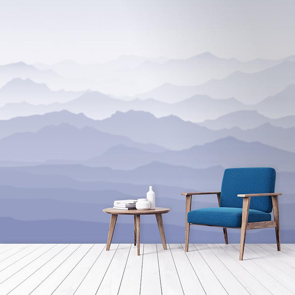 Misty Mural <br> Great Wall - Trendy Custom Wallpaper | Contemporary Wallpaper Designs | The Detroit Wallpaper Co.