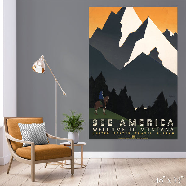 Montana Colossal Art Print - Trendy Custom Wallpaper | Contemporary Wallpaper Designs | The Detroit Wallpaper Co.
