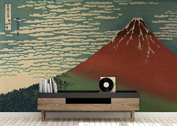 Mt. Fuji Mural <br> Great Wall - Trendy Custom Wallpaper | Contemporary Wallpaper Designs | The Detroit Wallpaper Co.