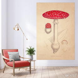 Mushroom Colossal Art Print - Trendy Custom Wallpaper | Contemporary Wallpaper Designs | The Detroit Wallpaper Co.