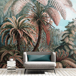 Neon Jungle Mural <br> Great Wall - Trendy Custom Wallpaper | Contemporary Wallpaper Designs | The Detroit Wallpaper Co.