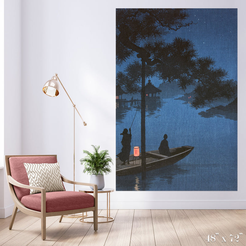 Night Colossal Art Print - Trendy Custom Wallpaper | Contemporary Wallpaper Designs | The Detroit Wallpaper Co.