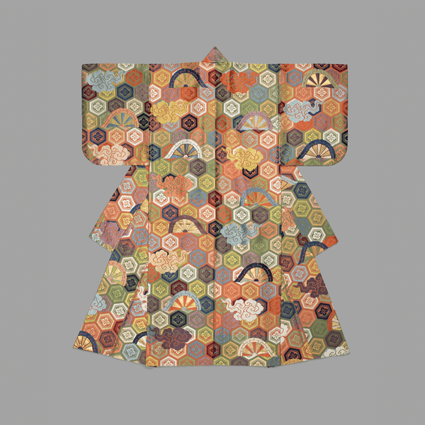 Noh Theater Robe, Atsuita Karaori type, 18th Century <br> Detroit Institute of Arts - Trendy Custom Wallpaper | Contemporary Wallpaper Designs | The Detroit Wallpaper Co.