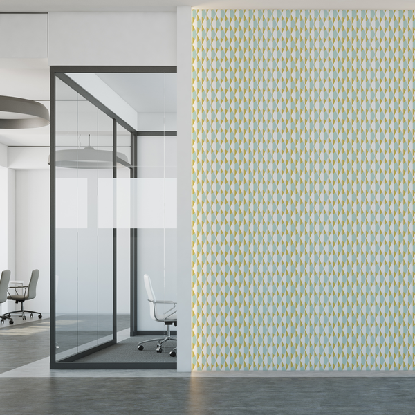 Origami - Mustard - The Detroit Wallpaper Co.