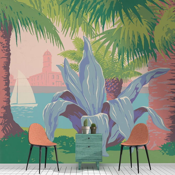 Puerto Rico Mural <br> Great Wall - Trendy Custom Wallpaper | Contemporary Wallpaper Designs | The Detroit Wallpaper Co.