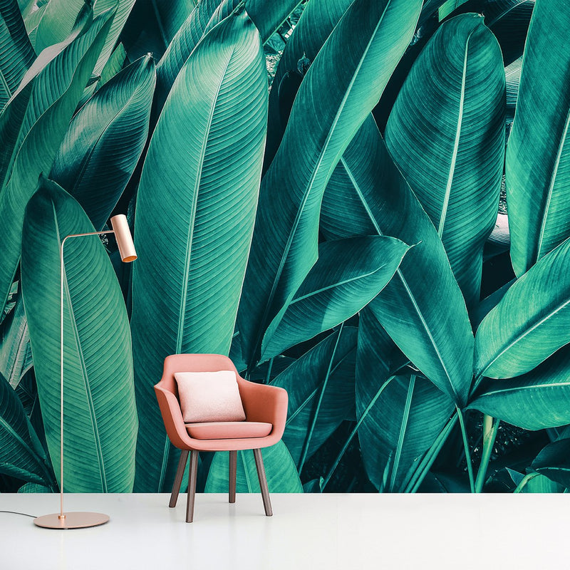 Palm Party <br> Great Wall - Trendy Custom Wallpaper | Contemporary Wallpaper Designs | The Detroit Wallpaper Co.