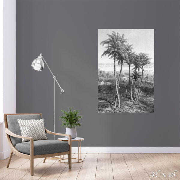 Palms Colossal Art Print - Trendy Custom Wallpaper | Contemporary Wallpaper Designs | The Detroit Wallpaper Co.