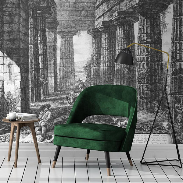 Perfect Ruin Mural - Trendy Custom Wallpaper | Contemporary Wallpaper Designs | The Detroit Wallpaper Co.