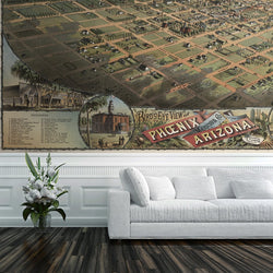 Phoenix Mural <br> Great Wall - Trendy Custom Wallpaper | Contemporary Wallpaper Designs | The Detroit Wallpaper Co.