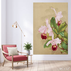 Pink Orchids Colossal Art Print - Trendy Custom Wallpaper | Contemporary Wallpaper Designs | The Detroit Wallpaper Co.