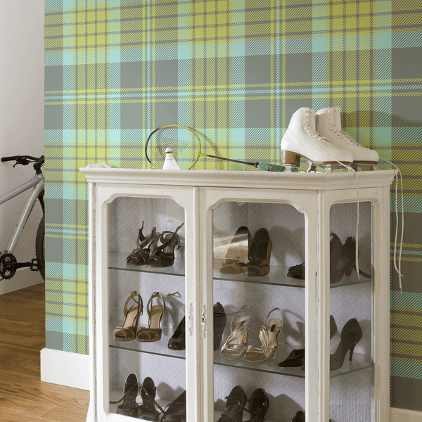Plaid - Prep School - Trendy Custom Wallpaper | Contemporary Wallpaper Designs | The Detroit Wallpaper Co.