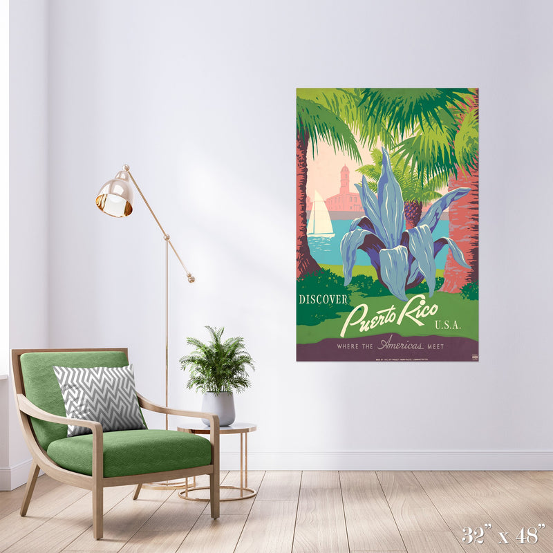 Puerto Rico Colossal Art Print - Trendy Custom Wallpaper | Contemporary Wallpaper Designs | The Detroit Wallpaper Co.