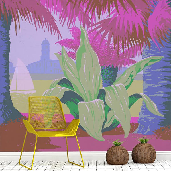 Puerto Rico Mural - Trendy Custom Wallpaper | Contemporary Wallpaper Designs | The Detroit Wallpaper Co.