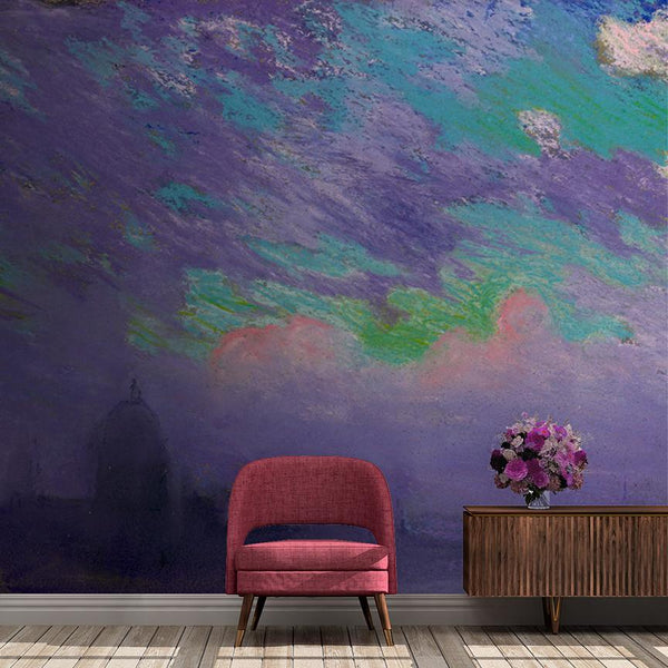 Purple Haze Mural - Trendy Custom Wallpaper | Contemporary Wallpaper Designs | The Detroit Wallpaper Co.