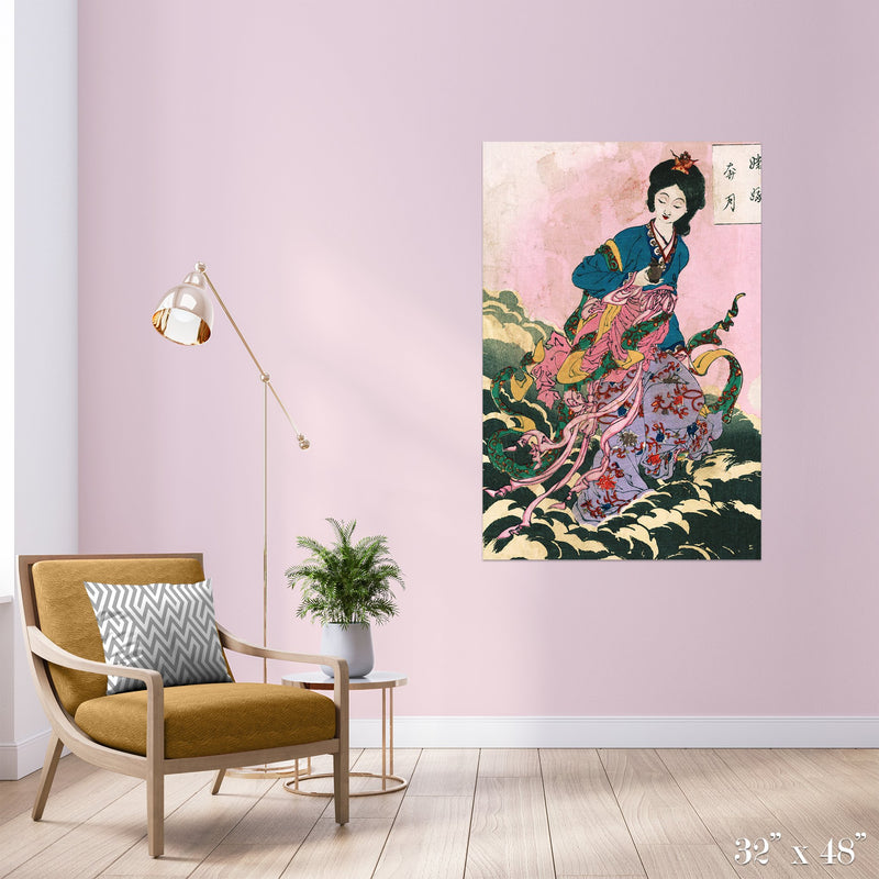 Riding a Cloud Colossal Art Print - Trendy Custom Wallpaper | Contemporary Wallpaper Designs | The Detroit Wallpaper Co.