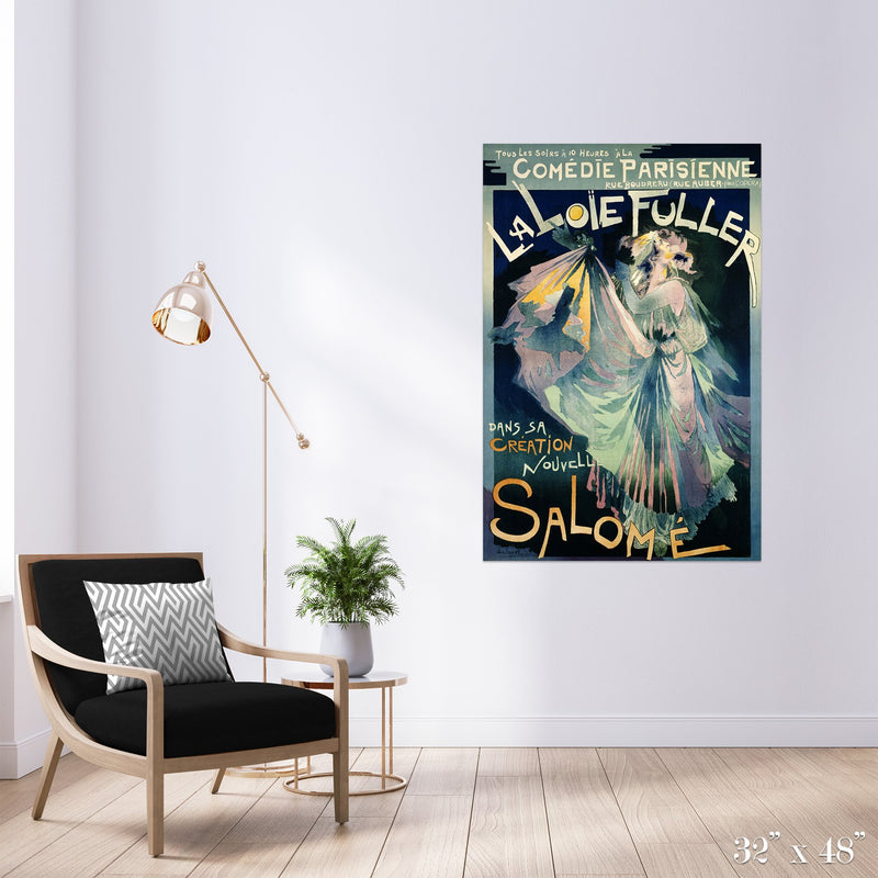 Salomé Colossal Art Print - Trendy Custom Wallpaper | Contemporary Wallpaper Designs | The Detroit Wallpaper Co.