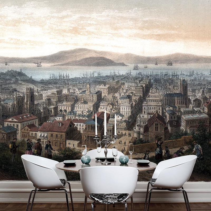 San Francisco Mural - Trendy Custom Wallpaper | Contemporary Wallpaper Designs | The Detroit Wallpaper Co.