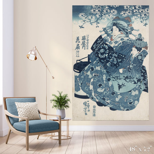 Shades of Blue Colossal Art Print - Trendy Custom Wallpaper | Contemporary Wallpaper Designs | The Detroit Wallpaper Co.