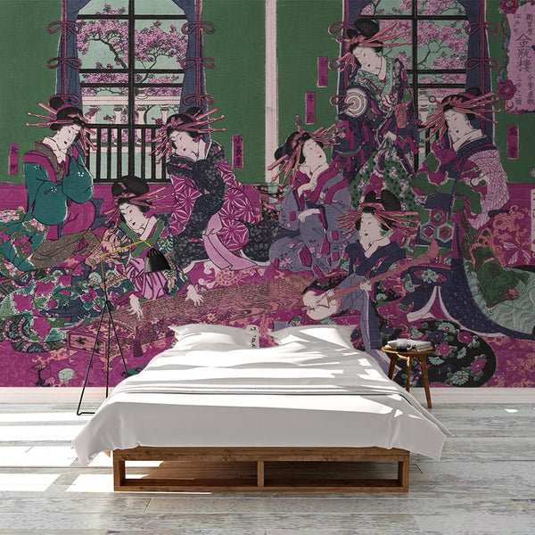 Sisterhood Mural <br> Great Wall - Trendy Custom Wallpaper | Contemporary Wallpaper Designs | The Detroit Wallpaper Co.
