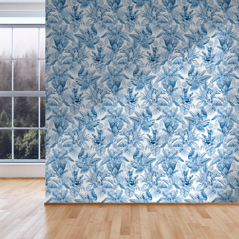 Stalk - Delf - Trendy Custom Wallpaper | Contemporary Wallpaper Designs | The Detroit Wallpaper Co.