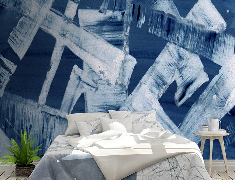 Streak Mural <br> Great Wall - Trendy Custom Wallpaper | Contemporary Wallpaper Designs | The Detroit Wallpaper Co.