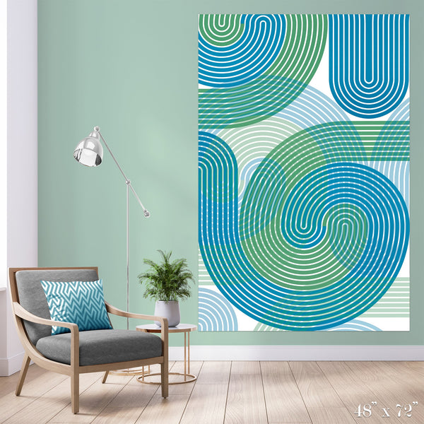 Stripe Vortex Colossal Art Print - Trendy Custom Wallpaper | Contemporary Wallpaper Designs | The Detroit Wallpaper Co.
