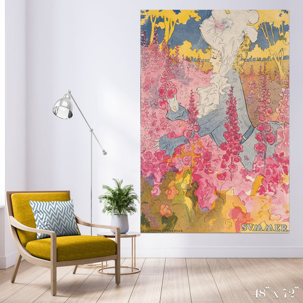 Summer Colossal Art Print - Trendy Custom Wallpaper | Contemporary Wallpaper Designs | The Detroit Wallpaper Co.