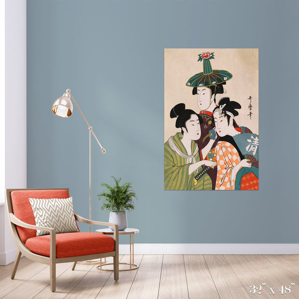 Trio Colossal Art Print - Trendy Custom Wallpaper | Contemporary Wallpaper Designs | The Detroit Wallpaper Co.