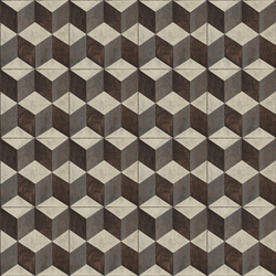 Tumbling Blocks <br> Mirth Studios - The Detroit Wallpaper Co.