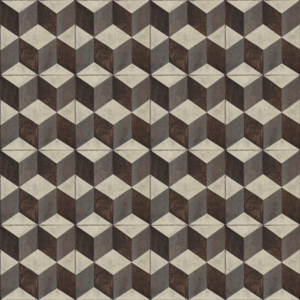 Tumbling Blocks <br> Mirth Studios - Trendy Custom Wallpaper | Contemporary Wallpaper Designs | The Detroit Wallpaper Co.