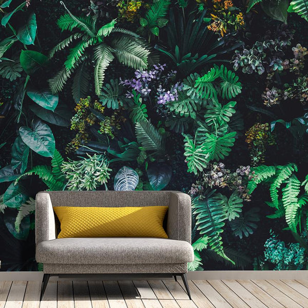 Vertical Garden Mural - Trendy Custom Wallpaper | Contemporary Wallpaper Designs | The Detroit Wallpaper Co.
