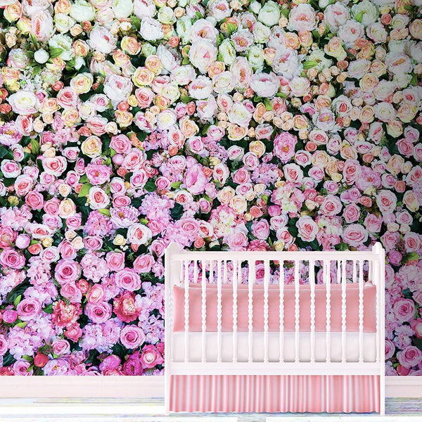 Wall Of The Roses Mural <br> Great Wall - Trendy Custom Wallpaper | Contemporary Wallpaper Designs | The Detroit Wallpaper Co.